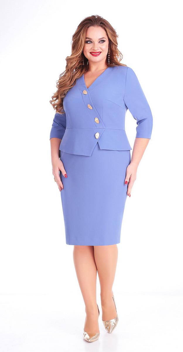 Платье Ксения стиль-1699А, голубой, 50