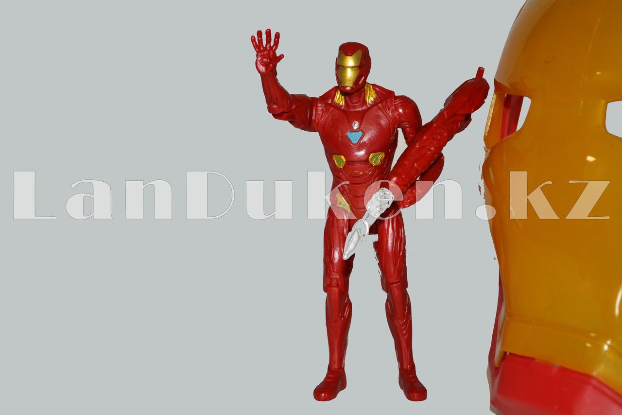 Набор детская маска и фигурка Железный человек 15 см серия Мстители - фото 5