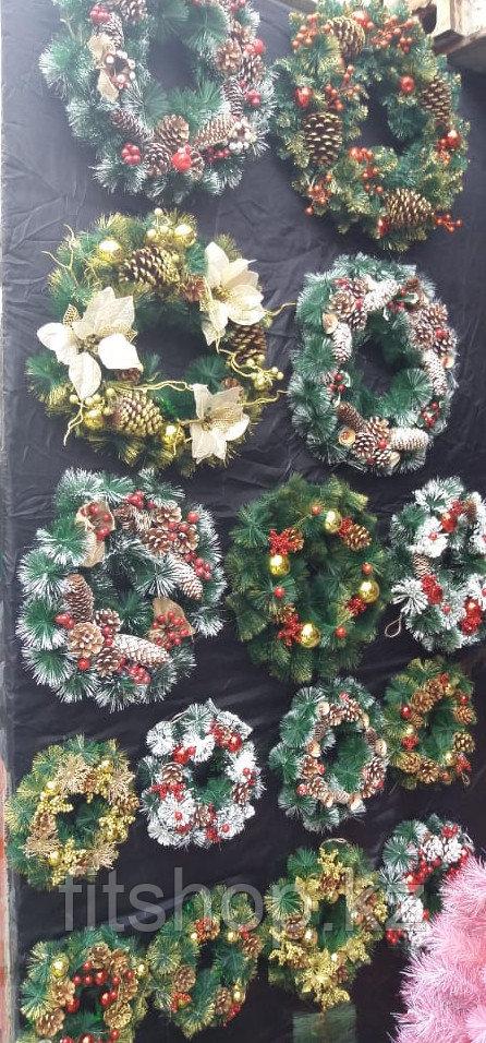 Рождественский Еловый венок 30 см