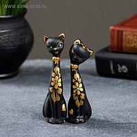 """Фигура """"Love Коты"""" набор 2шт черные 4×4×11см"""