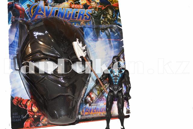 Набор детская маска и Черная Пантера 15 см серия Мстители