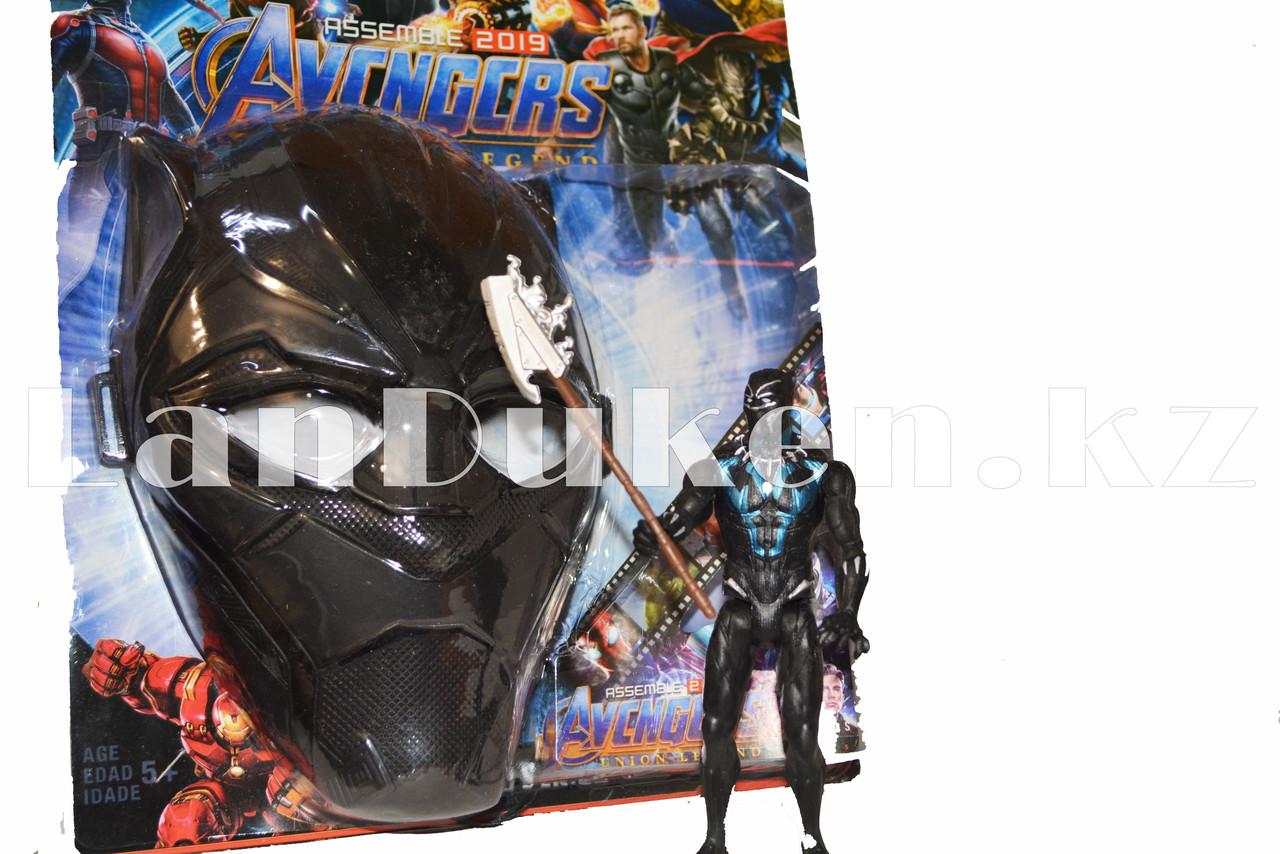Набор детская маска и фигурка Черная Пантера 15 см серия Мстители - фото 2