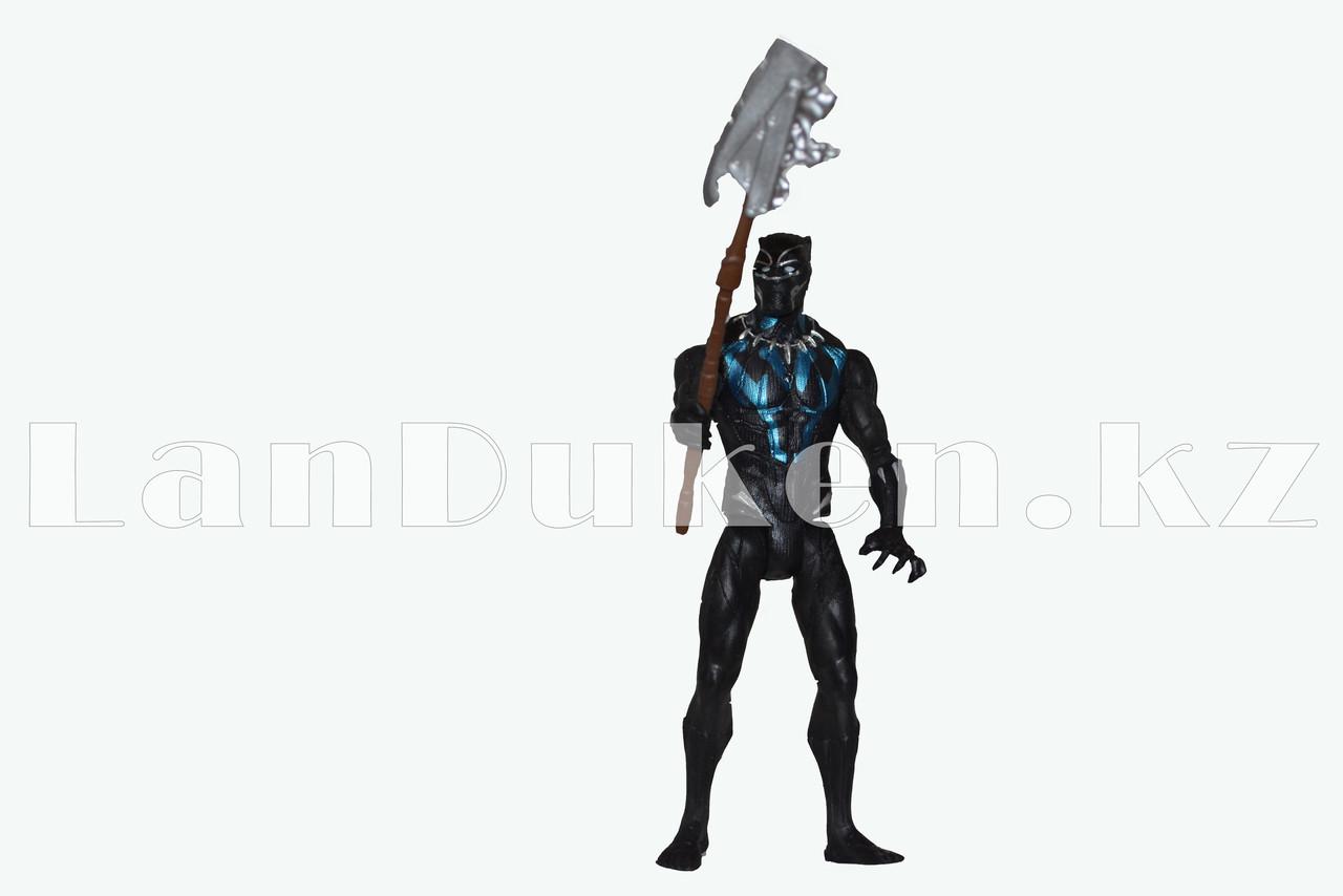 Набор детская маска и фигурка Черная Пантера 15 см серия Мстители - фото 4