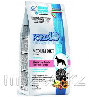Forza10 Medium Diet al Maiale con Patate, Форца10 монобелковый гипоаллергенный корм из кабана 12 кг