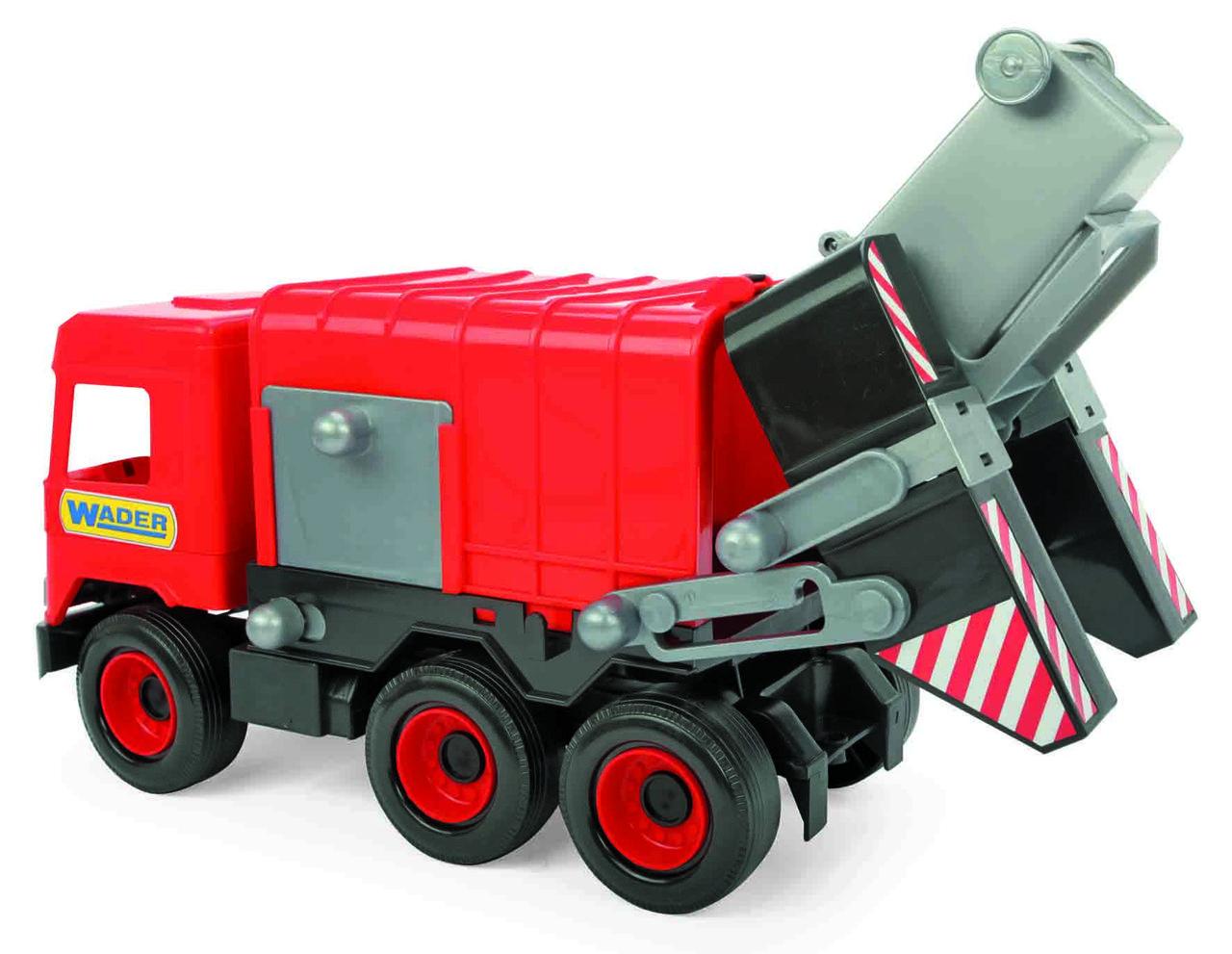 """Авто """"Middle truck"""" мусоровоз (красный) в коробке - фото 2"""