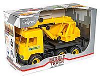 """Авто """"Middle truck"""" кран (желтый) в коробке"""