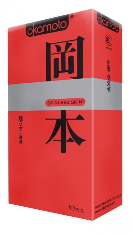 "ПРЕЗЕРВАТИВЫ ""OKAMOTO SKINLESS SKIN"" SUPER THIN №10 (ультра-тонкая классика)"