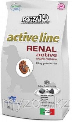 Forza10 Renal Active cane, Форца 10 диетический корм для собак для защиты почек, 4 кг.