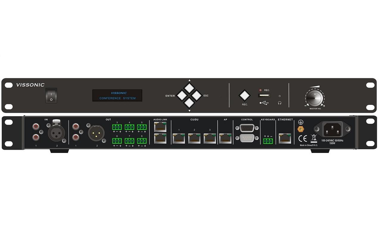 Центральный блок конференц-системы Vissonic VIS-DCP2000-W