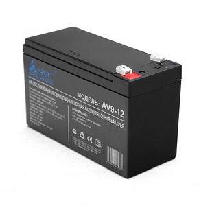 Батарея SVC AV9-12 свинцово-кислотная 12В 9 Ач, фото 2