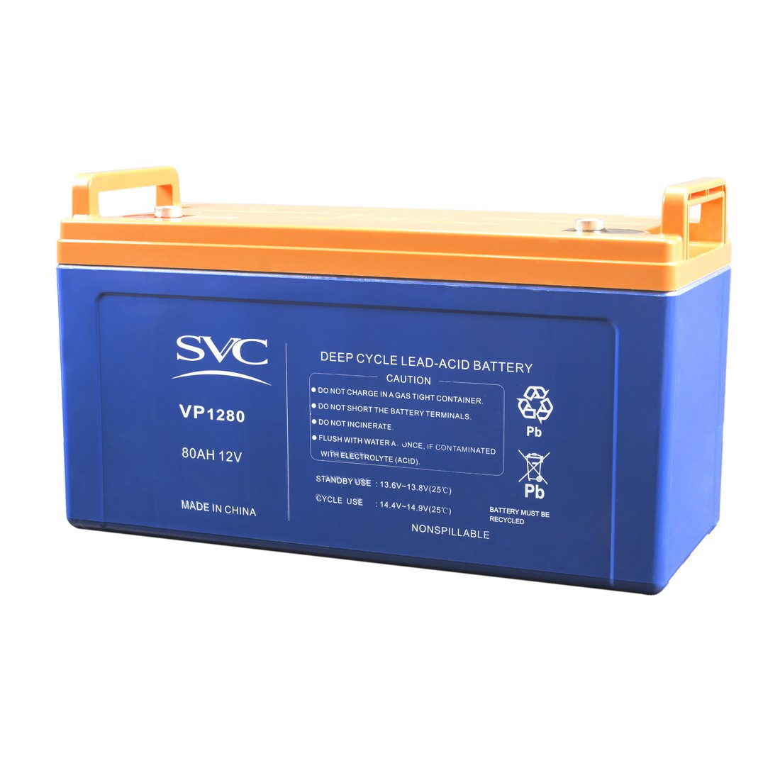 Батарея SVC свинцово-кислотная VP1280 12В 80 Ач