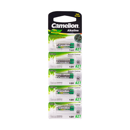 Батарейка Camelion A27-BP5 12V, фото 2