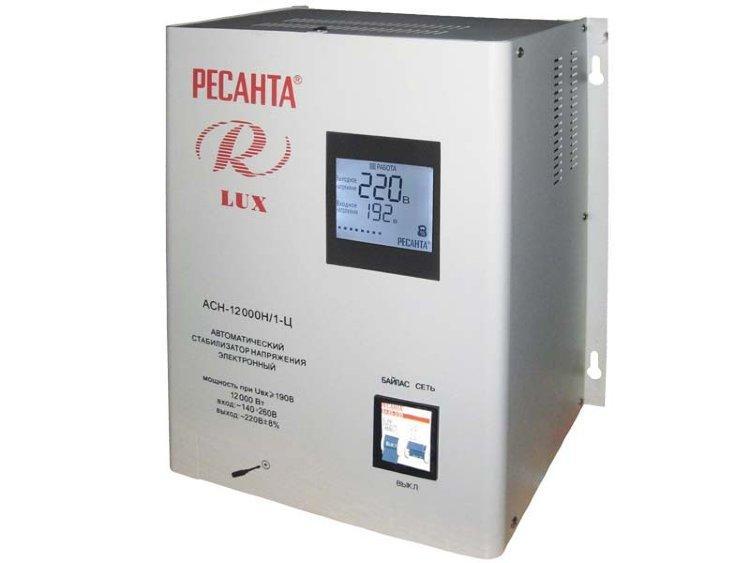 Стабилизатор напряжения серии LUX РЕСАНТА АСН-12000Н/1-Ц