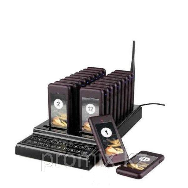 Беспроводная система оповещения и вызова клиентов и гостей с 20 пейджерами