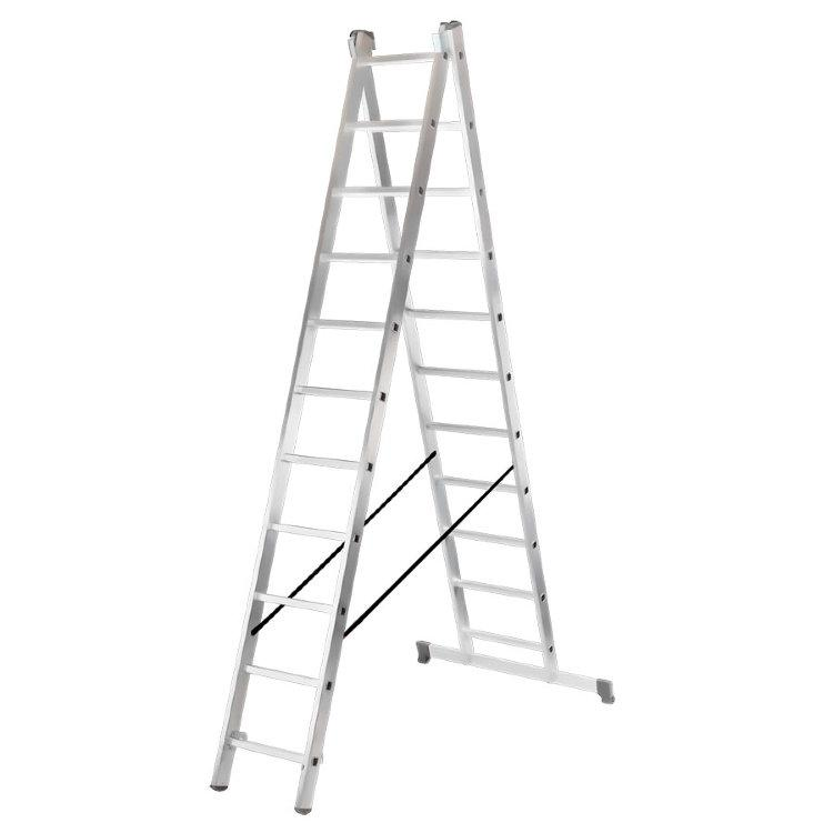 Лестница алюминиевая ВИХРЬ ЛА 2х11