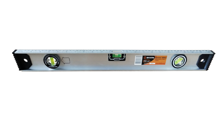 Уровень алюминиевый «Рельс» 800мм 3 глазка фрезерованный