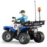 Полицейский квадроцикл с фигуркой Bruder 63-010, фото 5