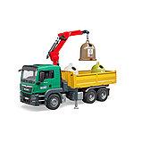 Самосвал MAN Bruder c 3 мусорными контейнерами 03-753, фото 3