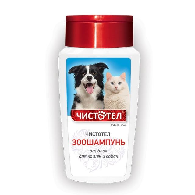 Шампунь Чистотел от блох и клещей для кошек и собак