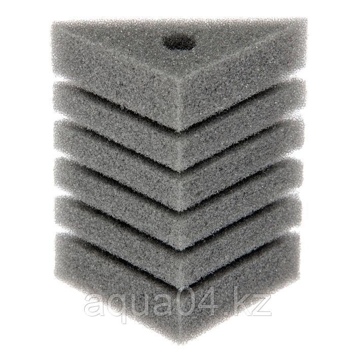 Губка треугольная запасная серая для фильтра турбо №24 (8х8х11х12 см)