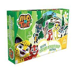 Игровой набор EVA Лео и Тиг, 7 героев мультсериала, 27 элементов. LTE016A