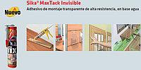 Sika MaxTack® Invisible. Прозрачный высокопрочный клей с высокой начальной схватываемостью. Жидкий гвоздь.