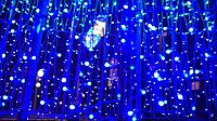Гирлянды светодиодные, новогодние, уличные Сетка, Водопад, Шторка, Бахрома, Струна, Нить, Twinkle Light