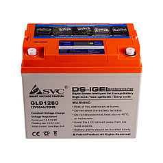Батарея SVC GLD1280 гелевая 12В 80 Ач LED-дисплей