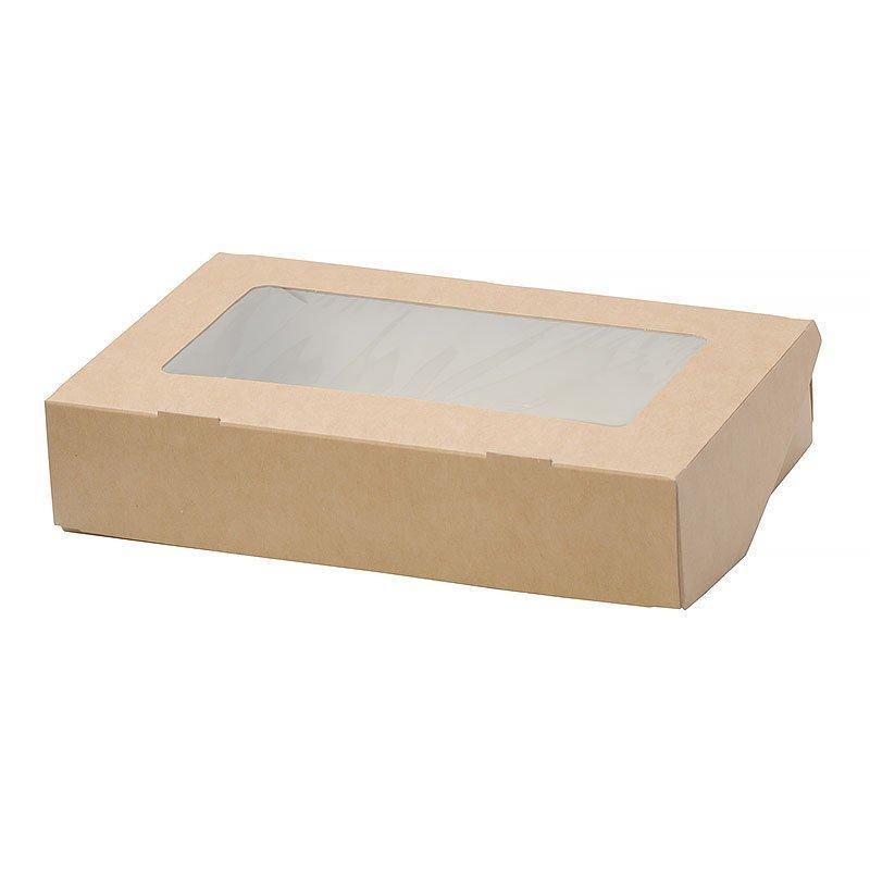 """Коробка """"DoEco"""" 170х70х40мм ECO TABOX 500 gl, с окном, коричн., 400 шт"""