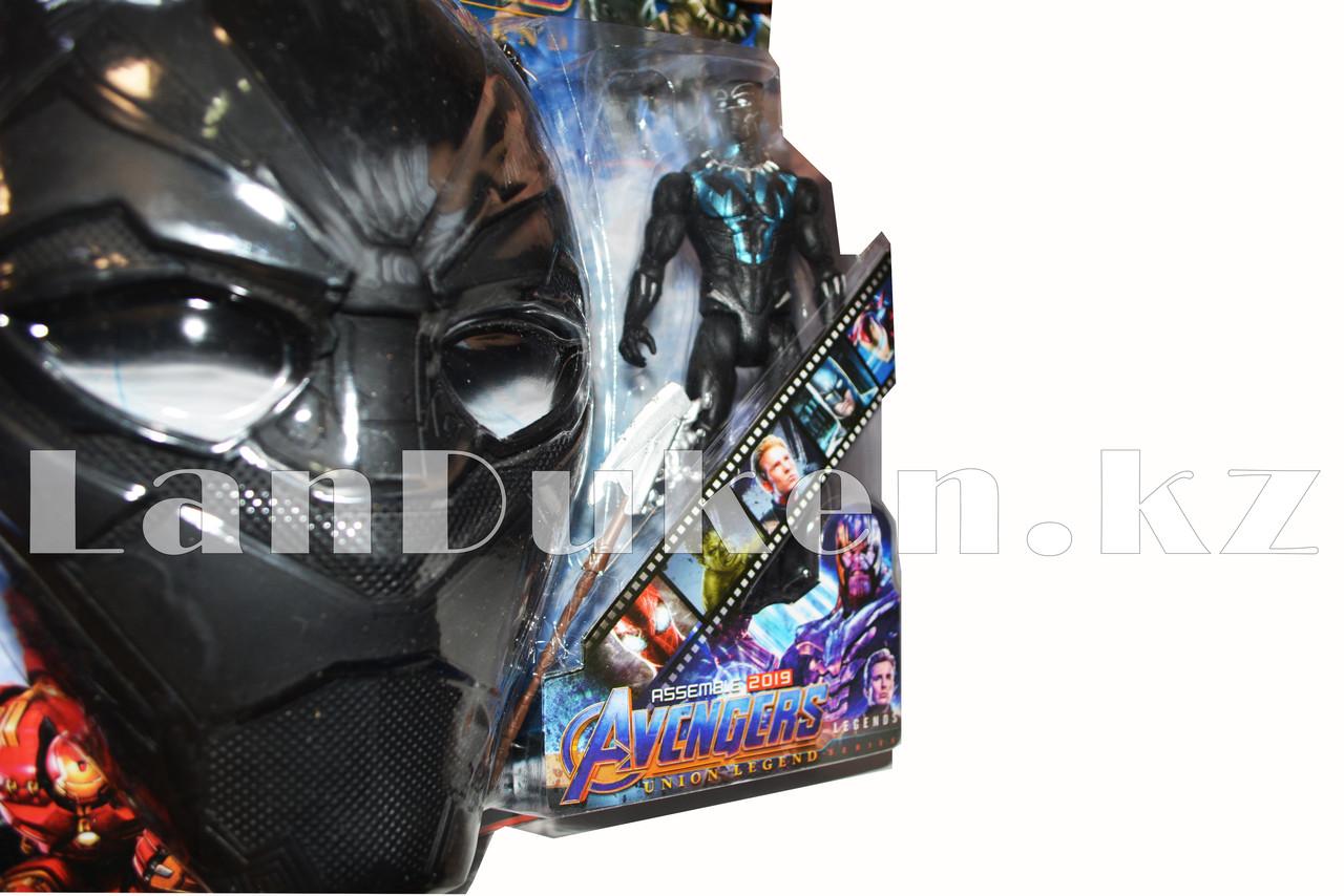 Набор детская маска и фигурка Черная Пантера 15 см серия Мстители - фото 6