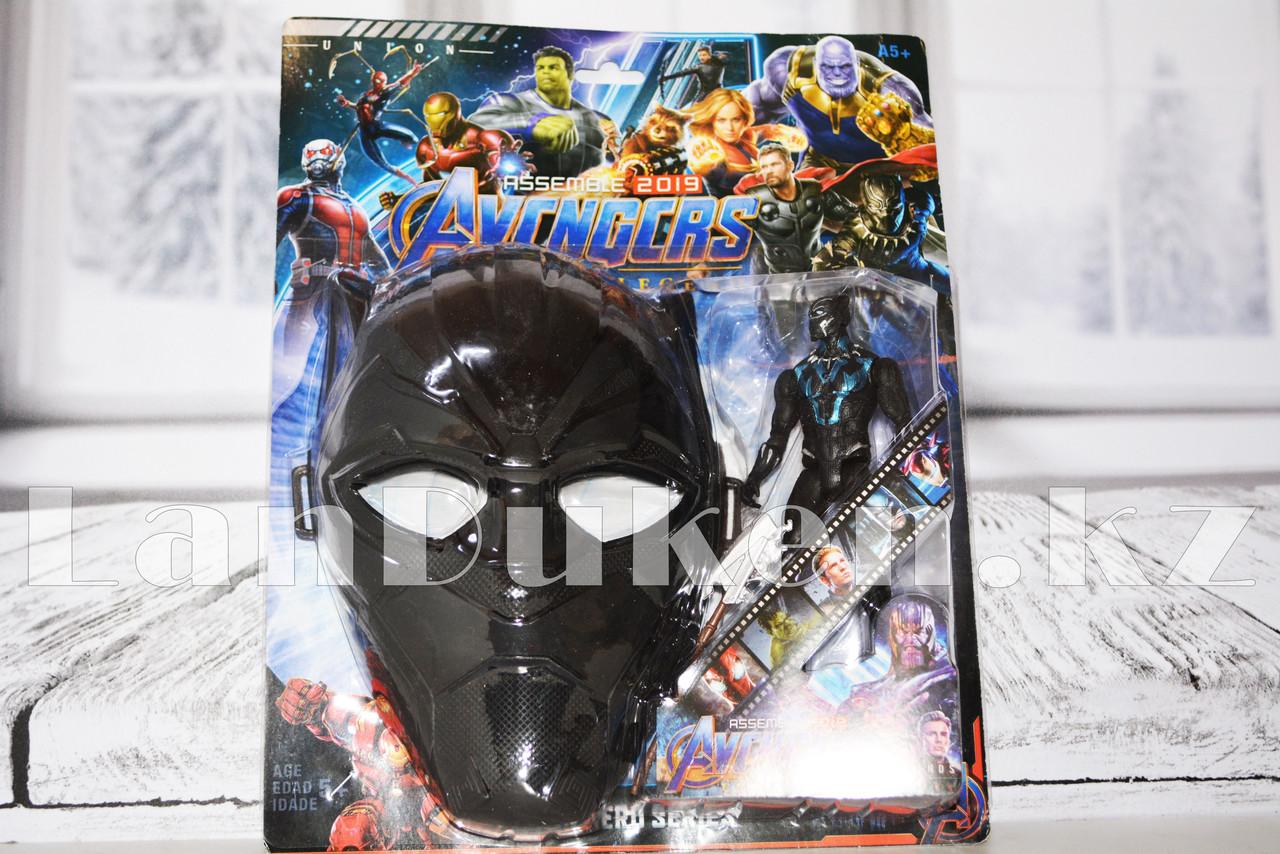 Набор детская маска и фигурка Черная Пантера 15 см серия Мстители - фото 7