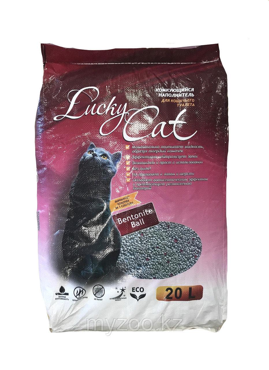 Lucky Cat, Лаки Кет, комкующийся наполнитель без ароматизатора, уп. 20л/16кг.