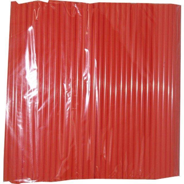 Трубочки д/коктейля прямые  в инд.упаковке красные d-8мм L-240мм ПП, 500 шт