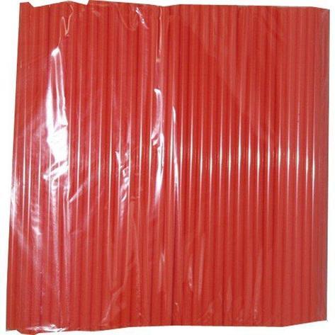 Трубочки д/коктейля прямые  в инд.упаковке красные d-8мм L-240мм ПП, 500 шт, фото 2