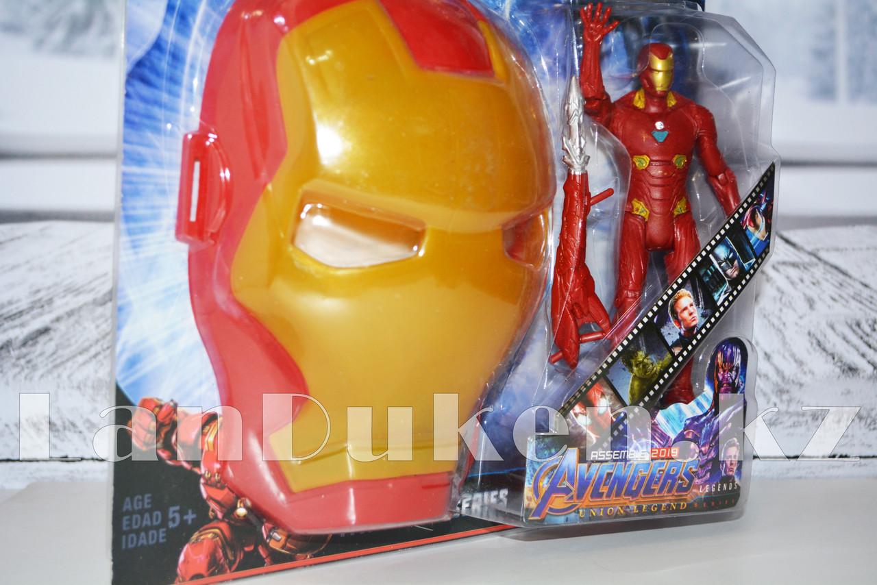 Набор детская маска и фигурка Железный человек 15 см серия Мстители - фото 4