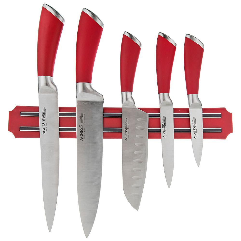Набор ножей с магнитным держателем Agness (6 предметов)