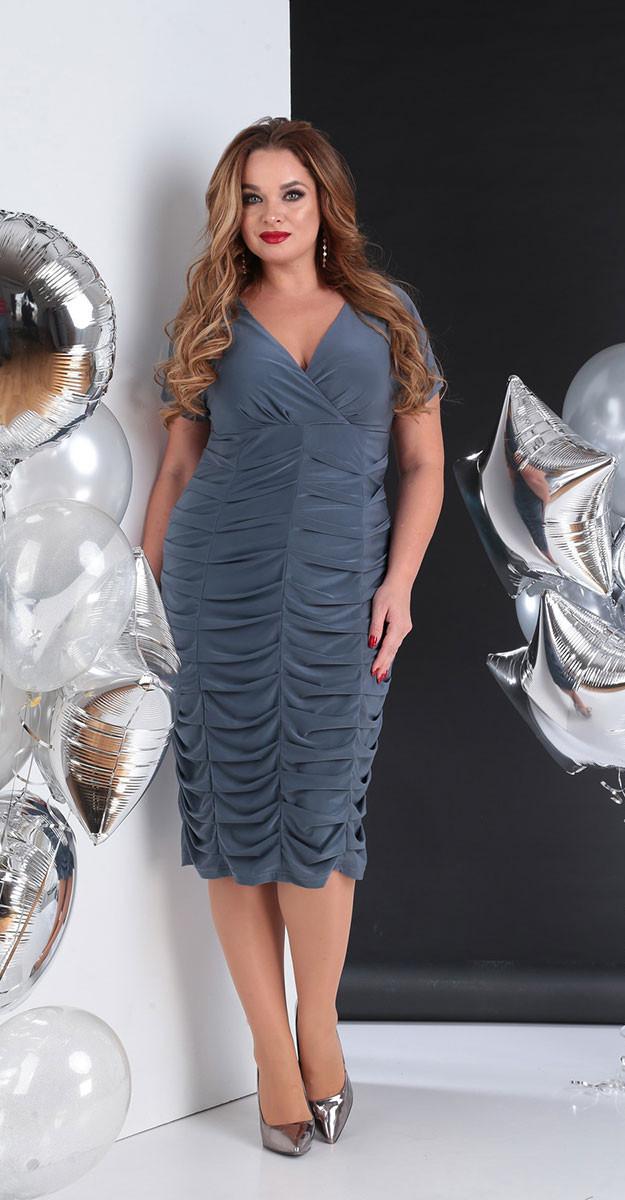 Платье Sandyna-13655/2, серый, 48