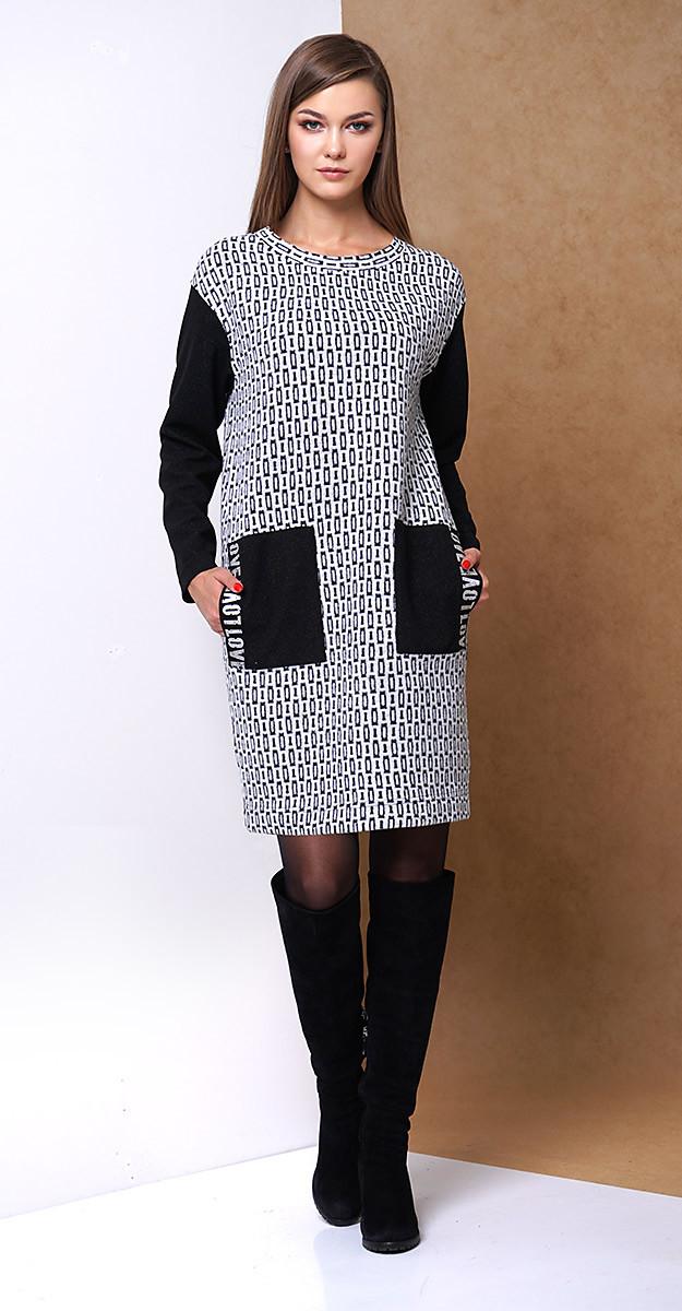 Платье Fantazia Mod-3314, серый с черным, 46