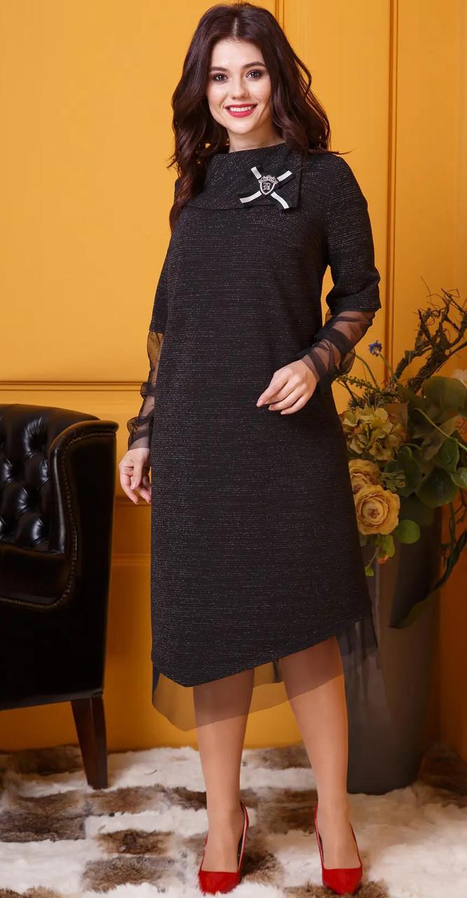 Платье Anastasia-377, черный, 54