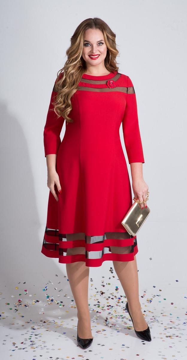 Платье Лилиана-789/1, красный, 50