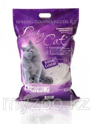 Lucky Cat, Лаки Кэт силикагелевый наполнитель с ароматом сакуры, 11л. 5кг.