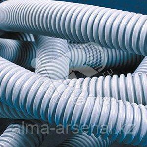 Труба гофрированная ПВХ 16 мм с протяжкой легкая серая (100м)