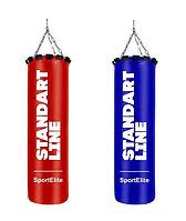 Мешок боксерский SportElite STANDART LINE 120см, d-34, 45кг, красный, синий