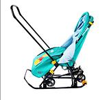 Cанки - коляска Ника Disney baby 1 Винни изумрудный, фото 2