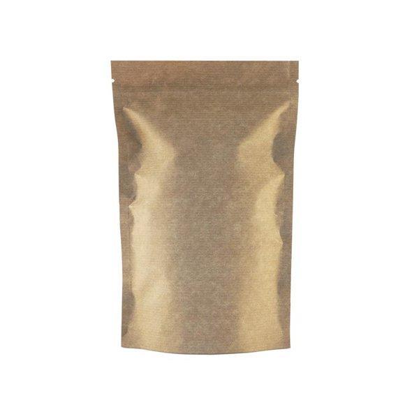 """Пакет бумажный """"Дой-пак""""160х250+(45+45)мм,КРАФТ, с ЗИП замком,без окна, 500 шт"""