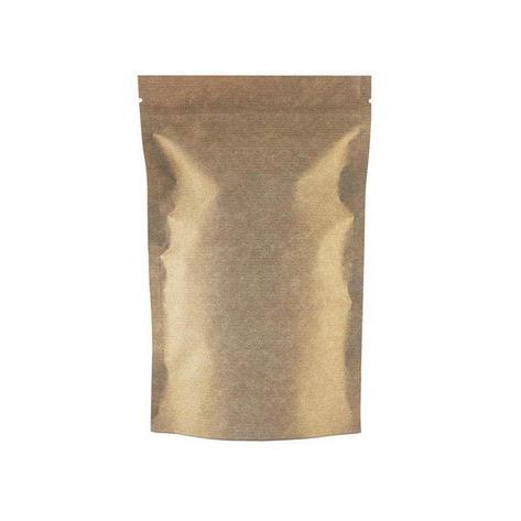 """Пакет бумажный """"Дой-пак""""160х250+(45+45)мм,КРАФТ, с ЗИП замком,без окна, 500 шт, фото 2"""