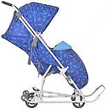 Санки-коляска Ника Умка 3-1 Динозаврики синий, фото 3