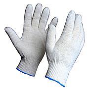 Перчатки белые (Синяя полоска)