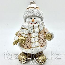 Садовая статуэтка снеговик  Н-23,5