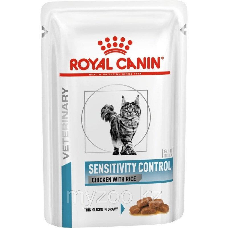 Влажный корм для кошек с аллергией Royal Canin SENSITIVITY CHICKEN CAT POUCH 1*85 g.